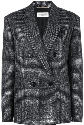 Saint Laurent Double-Breasted Tweed Blazer