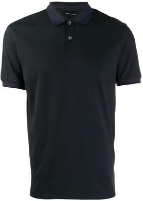 Emporio Armani plain button polo shirt
