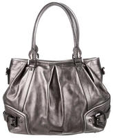 Burberry Metallic Pleated Leather Tote
