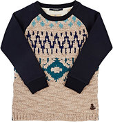Scotch Shrunk MIXED-MATERIAL PULLOVER SWEATSHIRT