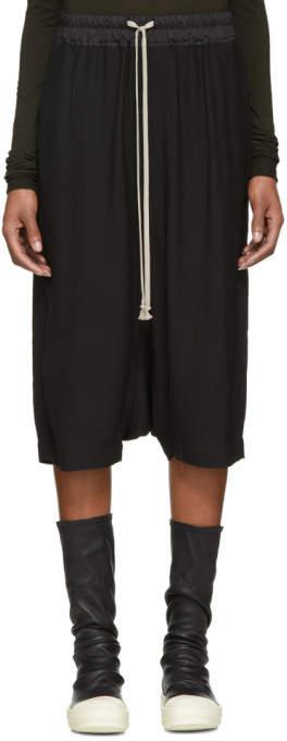 Rick Owens Black Ricks Shorts