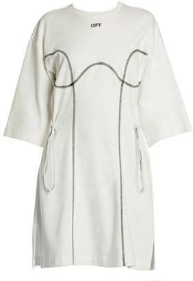 Off-White Coulisse Cotton T-Shirt Dress