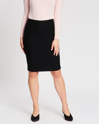 David Lawrence Felted Wool Pencil Skirt