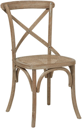 OKA Camargue Solid Oak Dining Chair - Weathered Oak