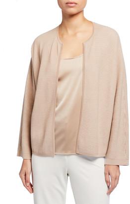 Eileen Fisher Petite Silk/Organic Cotton Open Cardigan