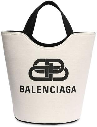 Balenciaga MEDIUM WAVE CANVAS NEW TOTE