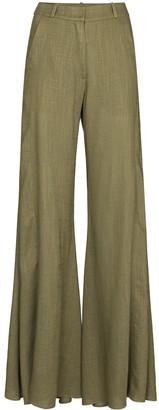 Adriana Degreas High-Waist Flared Trousers