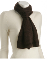 chocolate brown cashmere baby cable scarf