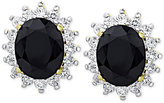 Macy's Sapphire (3 ct. t.w.) and White Topaz (9/10 ct. t.w.) Stud Earrings in 18k Gold-Plated Sterling Silver