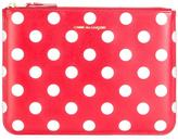 Comme des Garcons polka dots zipped clutch