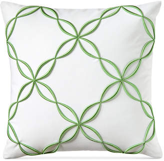 "Charter Club Damask Designs Outline Embroidered 18"" Square Decorative Pillow, Bedding"