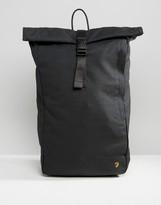 Farah Canvas Rolltop Backpack Black