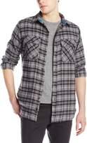 Burnside Men's Cabin Flannel Shirt, Grey