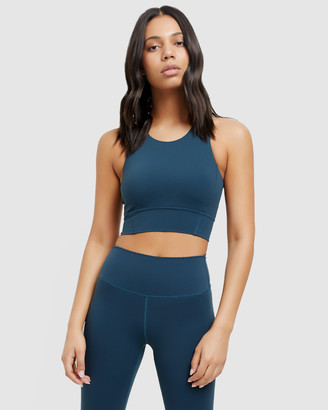 All Fenix - Women's Green Crop Tops - Madison Core Sports Bra - Size One Size, XS/6 at The Iconic