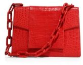 Nancy Gonzalez Large Crocodile Chain Flap Shoulder Bag