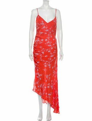 Nicholas Silk Long Dress w/ Tags Orange