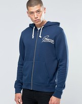 Converse Laces Zip-Up Hoodie In Navy 10001160-A04