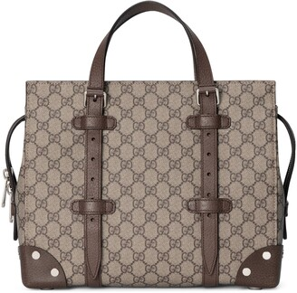 Gucci GG tote with leather details