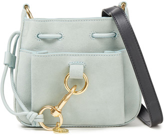 See by Chloe Tony Large Suede And Textured-leather Bucket Bag