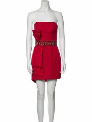 Jovani Strapless Mini Dress Red