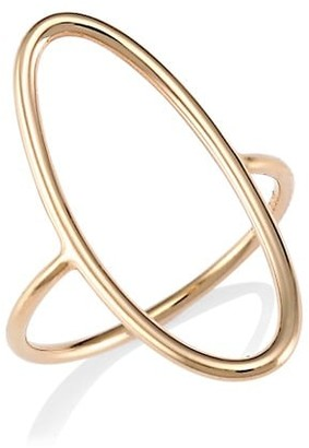 ginette_ny 18K Rose Gold Open Ellipse Ring