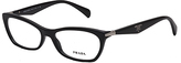 Prada Black Wave-Arm Eyeglasses