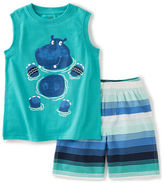 Kids Headquarters Boys 2-7 Hippo Tank and Shorts Set
