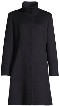 Sofia Cashmere Funnelneck Wool & Cashmere Coat