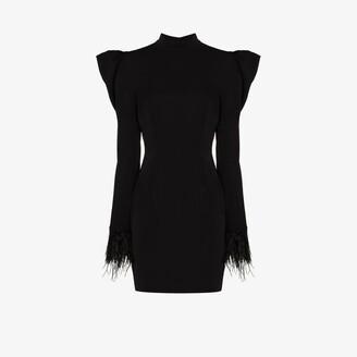 De La Vali Baltimore feathered dress