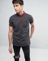 Brave Soul Strip Polo Shirt with Contrast Pocket