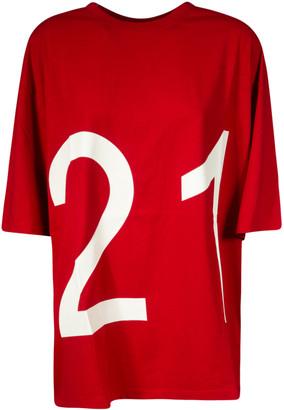 N°21 N.21 Logo Print Loose Fit T-shirt
