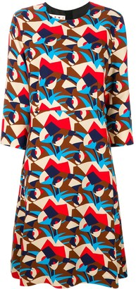 Marni Henne pattern midi dress