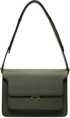 Marni Green Saffiano Medium Trunk Bag