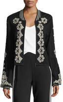 Nanette Lepore Beso Embroidered Bomber Jacket