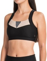 Mondetta Anchor Color-Block Sports Bra - Medium Impact, Removable Cups, Racerback (For Women)
