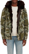 Mr and Mrs Italy Men's Camouflage Cotton & Fur Parka