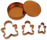 Bed Bath & Beyond 3-Piece Copper Plated Gingerbread Man Cookie Cutter Set