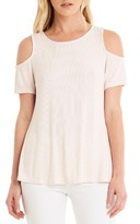 Michael Stars Women's Cold Shoulder Ribbed Top