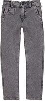 Officina51 Stretch Cotton-Blend Textured-Knit Pants-GREY