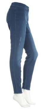 Hue Hosiery Mid-Rise Ripped Women's Denim Leggings