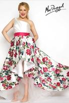 Mac Duggal Fabulouss - 65973 One Shoulder Gown In White Multicolor