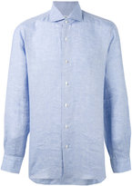 Barba chambray shirt - men - Linen/Flax - 41