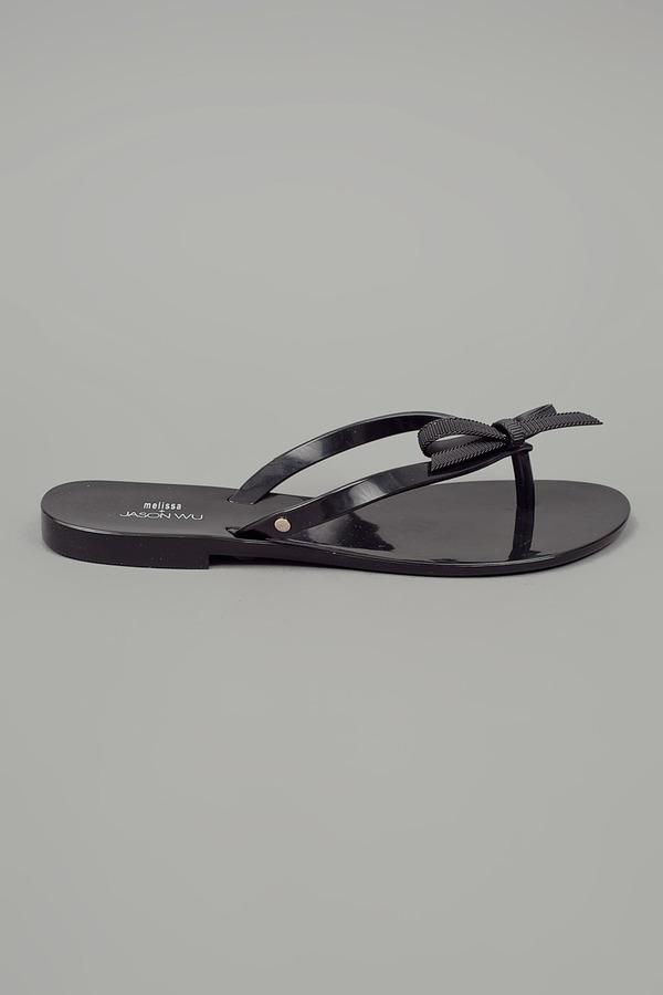 Melissa Jason Wu by Harmonic Sandal Flat w/Bow Black