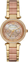 MICHAEL Michael Kors Ritz Crystal Chronograph Bracelet Watch, Two-Tone