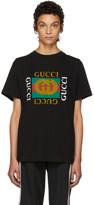 Gucci Black Tiger Logo T-Shirt