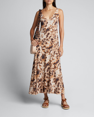 Nanushka Corrine Sleeveless Tie-Dye Long Dress