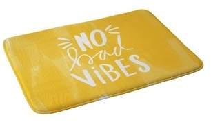 Deny Designs Allyson Johnson No Bad Vibes Memory Foam Bath Mat Typography Yellow