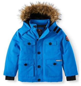 Avalanche Water Resistant Parka with Faux Fur Hood (Little Boys & Big Boys)