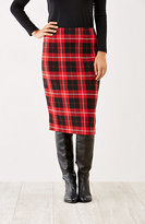 J. Jill Plaid Knit Pencil Skirt
