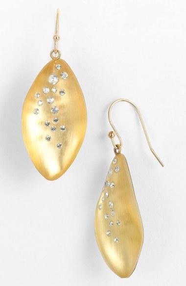 Alexis Bittar 'Lucite ® - Dust' Long Leaf Statement Earrings